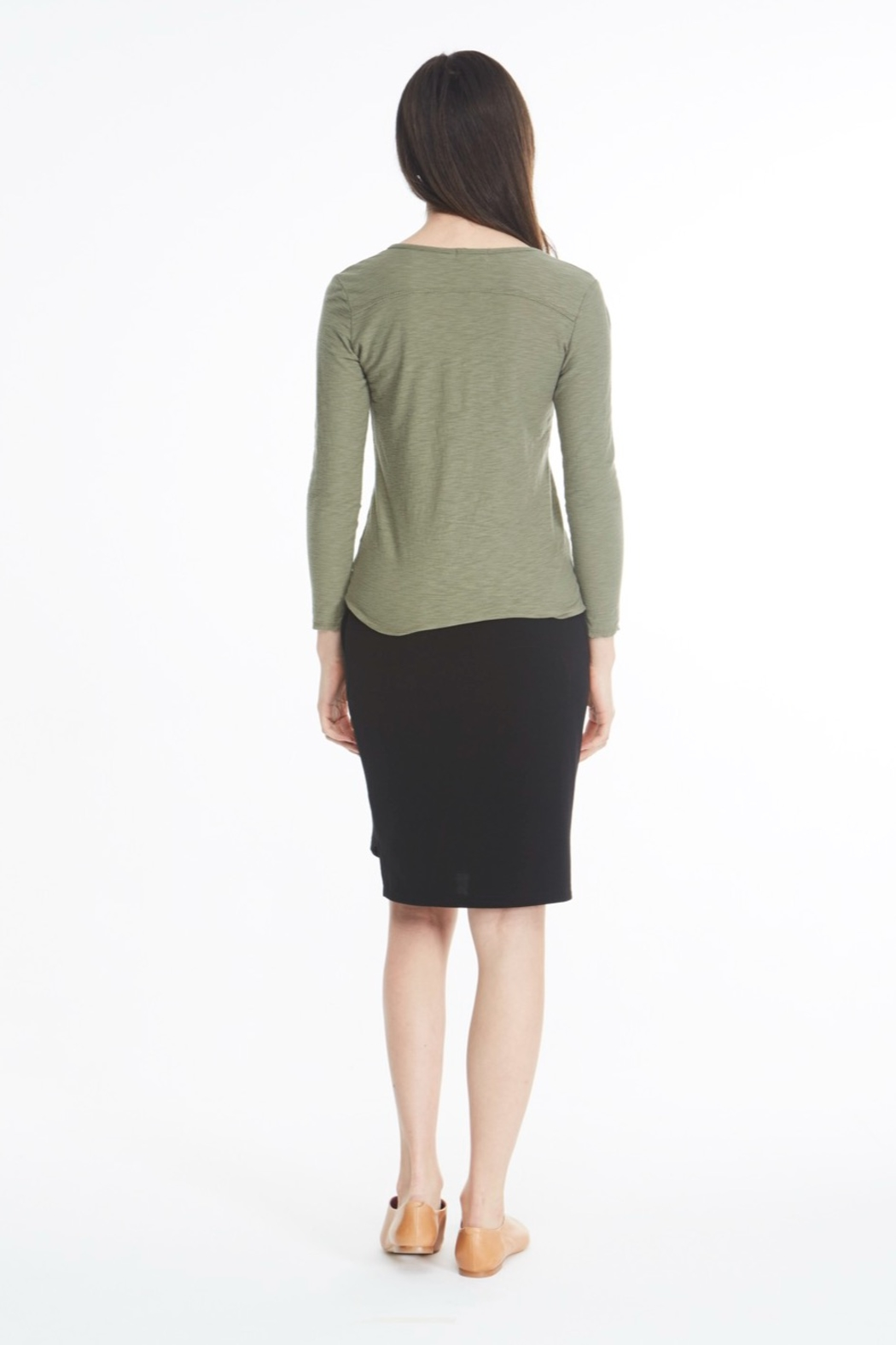 Michelle by Comune Mesa V Neck Long Sleeve Top - Front Full Image