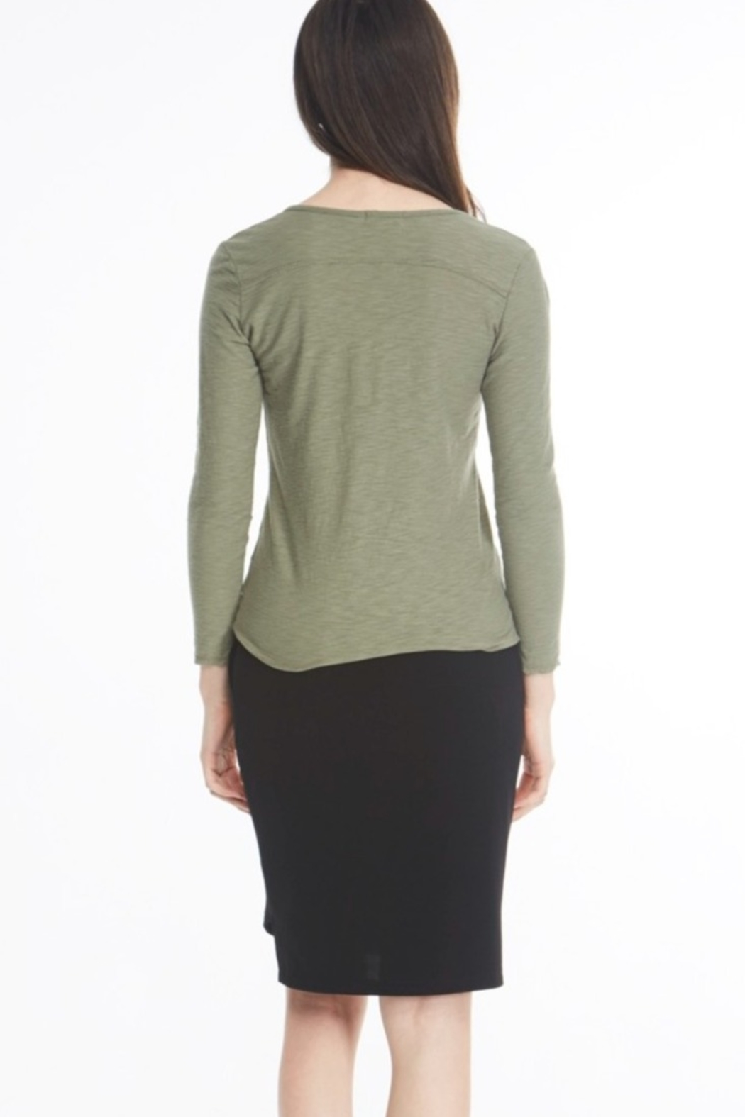 Michelle by Comune Mesa V Neck Long Sleeve Top - Main Image