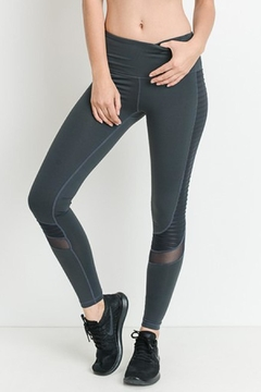 Mono B Mesh Activewear Leggings - Product List Image