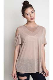 People Outfitter Mesh Beige Tee - Product Mini Image