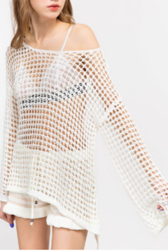 Shoptiques Product: Mesh Bell Sleeve Top