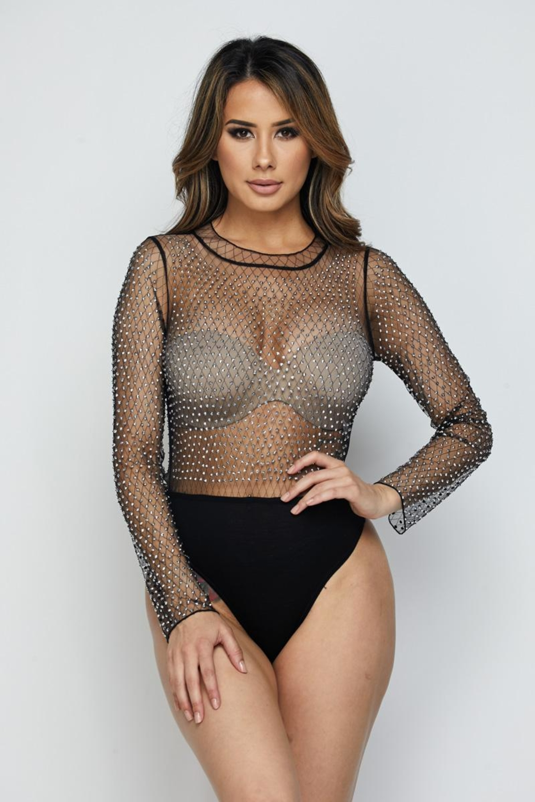 Hot & Delicious Mesh Bodysuit - Main Image