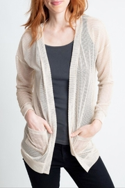 Glam Mesh Cardigan Sweater - Product Mini Image