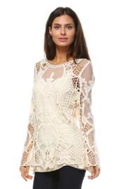 Apparel Love Mesh & Crotchet Tunic - Product Mini Image