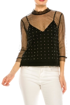 Renamed Clothing Mesh Crystal Blouse - Product List Image