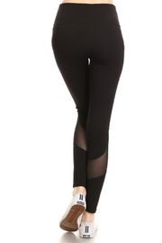 Yelete Mesh Detail Legging - Side cropped