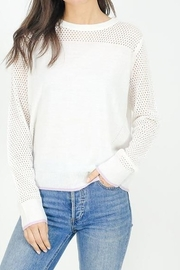 Six Fifty Mesh Detail Lightweight Sweater - Product Mini Image