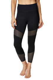 Betsey Johnson Mesh Detail Moto Legging - Product Mini Image