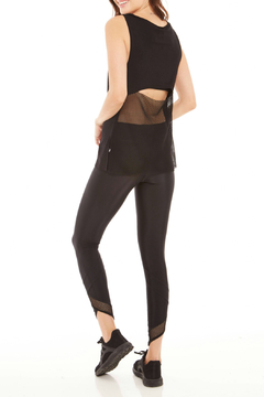 Terez Mesh Drape Back V-Neck Tank - Product List Image