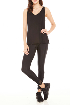 Terez Mesh Drape Back V-Neck Tank - Alternate List Image