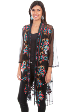 Shoptiques Product: Mesh Embroidered Duster