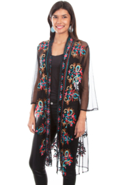 Scully Mesh Embroidered Duster - Product Mini Image
