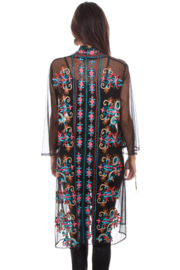 Scully Mesh Embroidered Duster - Front full body