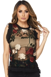 Hot & Delicious Mesh Floral Top - Product Mini Image