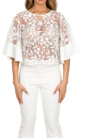 cq by cq Mesh Floral Top - Product Mini Image