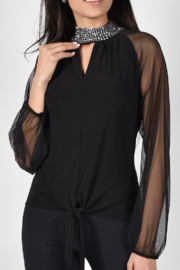 Frank Lyman Mesh High Neck Top 214001 - Front cropped