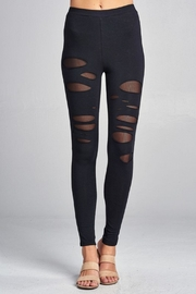 Active USA Mesh Insert Legging - Front cropped