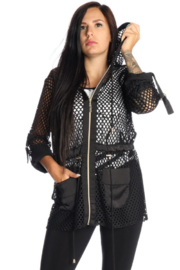 Michael Tyler Collections Mesh Jacket w/ Gold Zipper - Product Mini Image