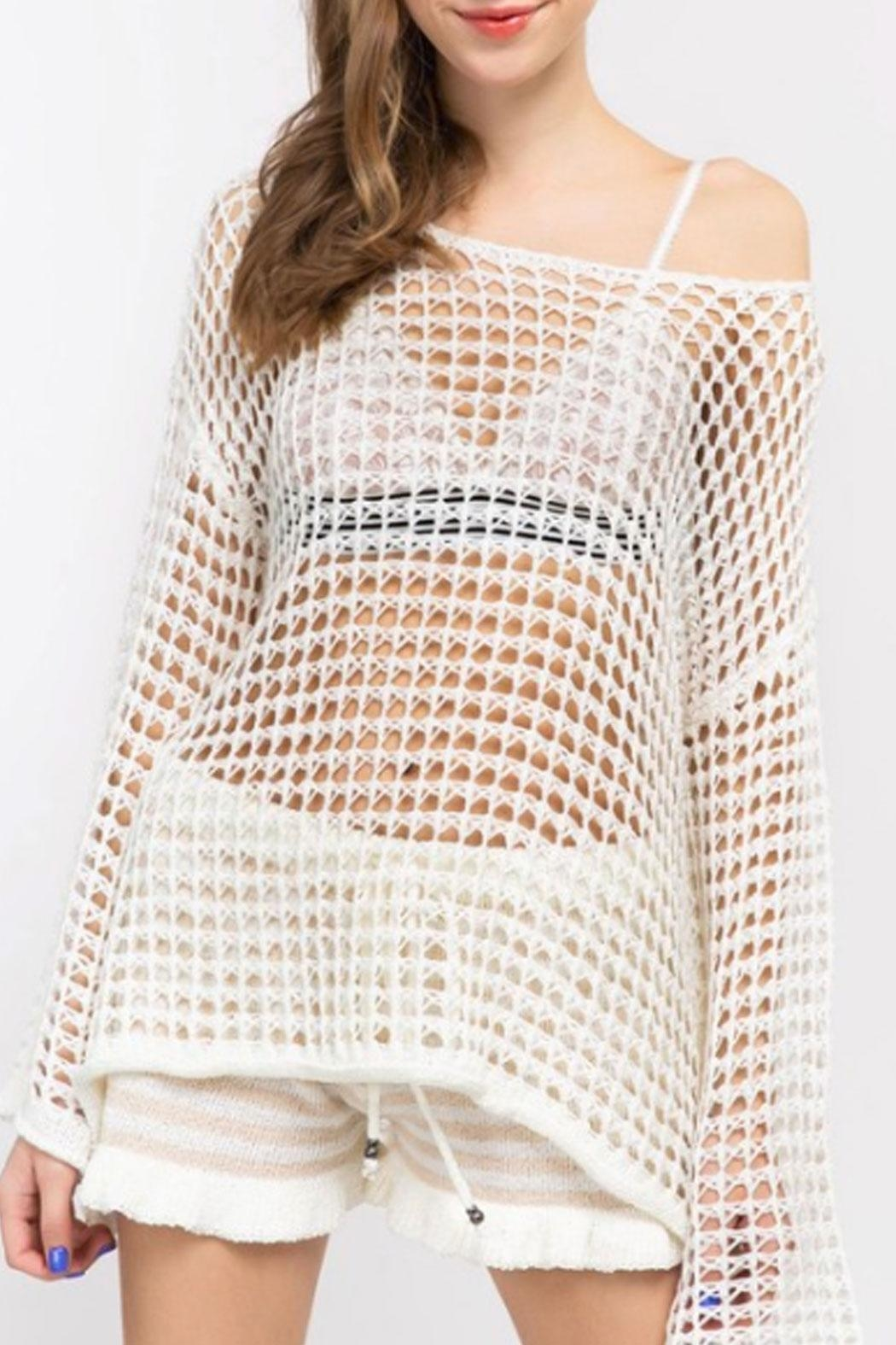 4e9256c4c15 POL Mesh Knit Top from New York by Runway   Rose — Shoptiques