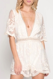 She + Sky Mesh Lace Romper - Product Mini Image