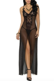 Elegant moments Mesh Lingerie Gown - Product Mini Image