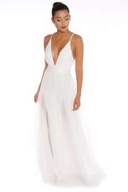 luxxel Mesh Maxi Gown - Front cropped