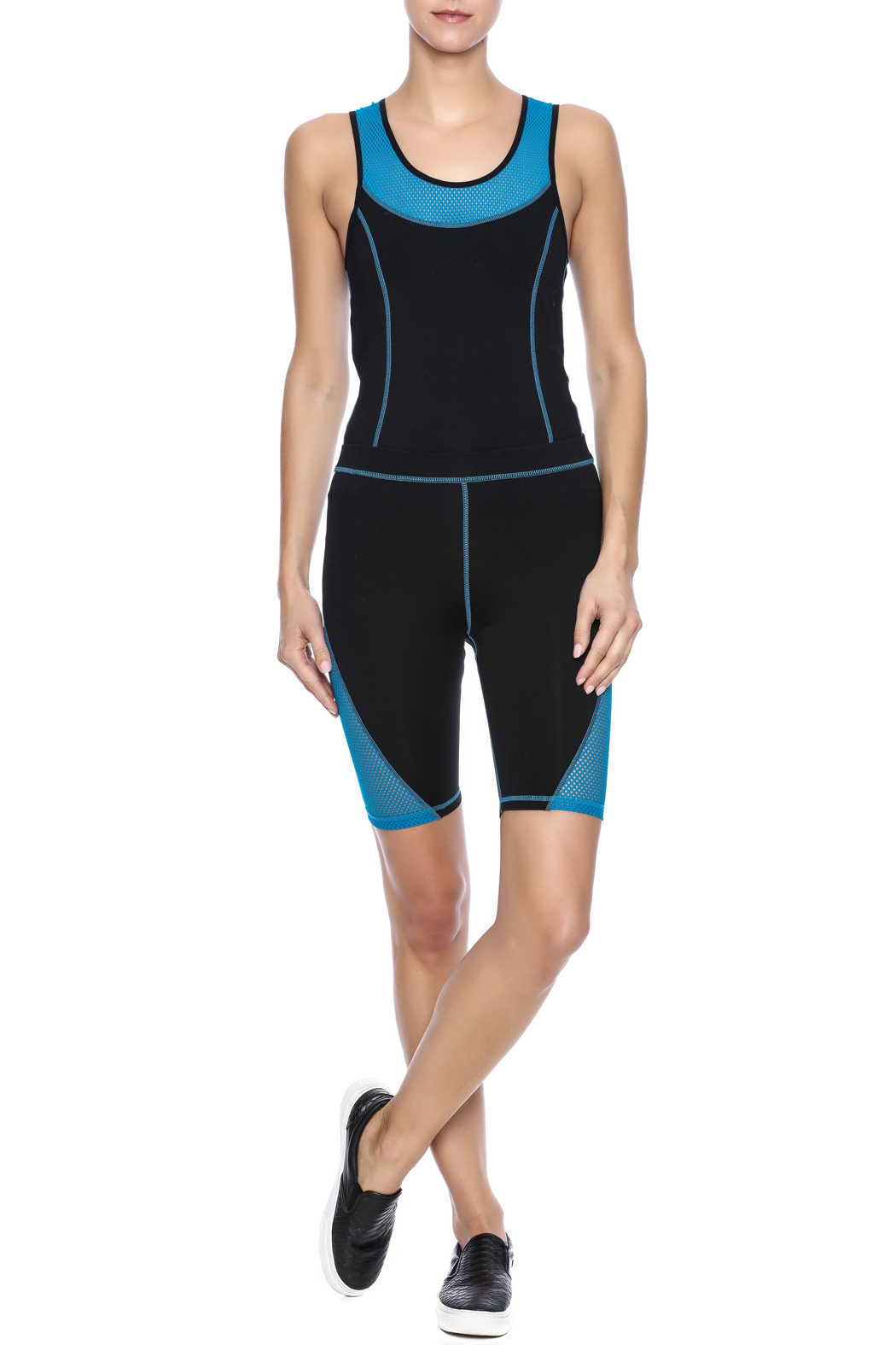 Mink Pink Move  Mesh Me Bike Short - Front Full Image