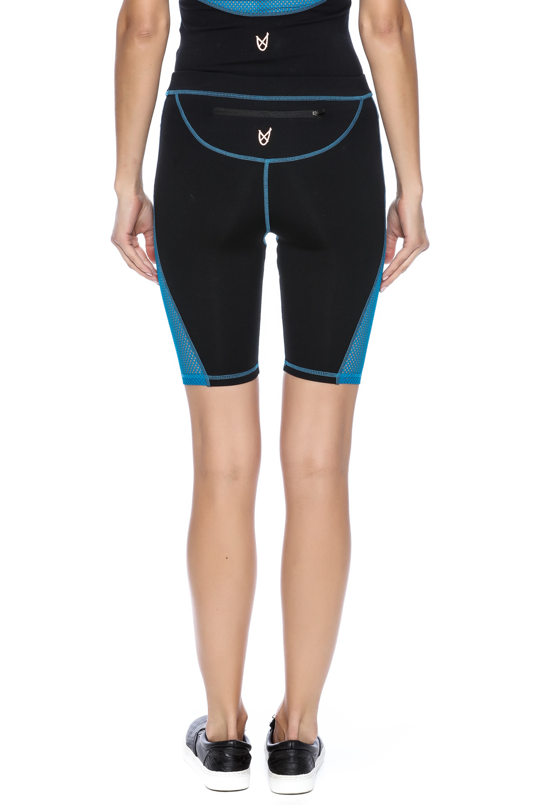 Mink Pink Move  Mesh Me Bike Short - Back Cropped Image