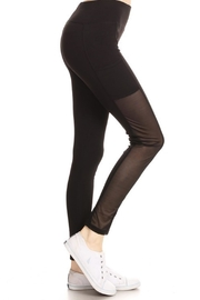 Yelete Mesh Panel Legging - Product Mini Image