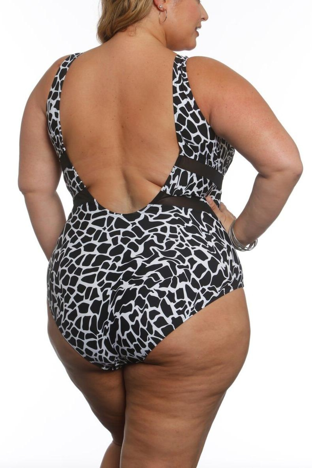 Sun & Sea Trading Company Mesh Panel Swimsuit - Front Full Image