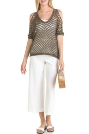 Mystree Mesh Pointelle Cold-Shoulder - Other