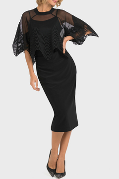 Joseph Ribkoff USA Inc. Mesh Scalloped Edge Top - Product List Image