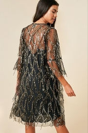 Hayden Los Angelos Mesh Sequin Cardigan - Front full body