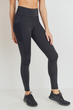 Shoptiques Product: Mesh side pocket hi waist leggings
