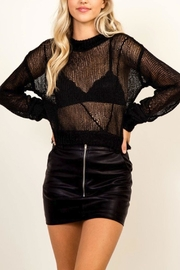 Olivaceous Mesh Sweater - Product Mini Image