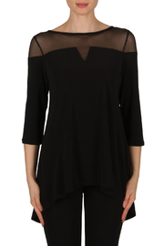 Joseph Ribkoff Mesh Top Back Vent Tunic - Product Mini Image