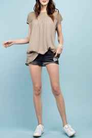 easel Mesh Top Tee - Product Mini Image