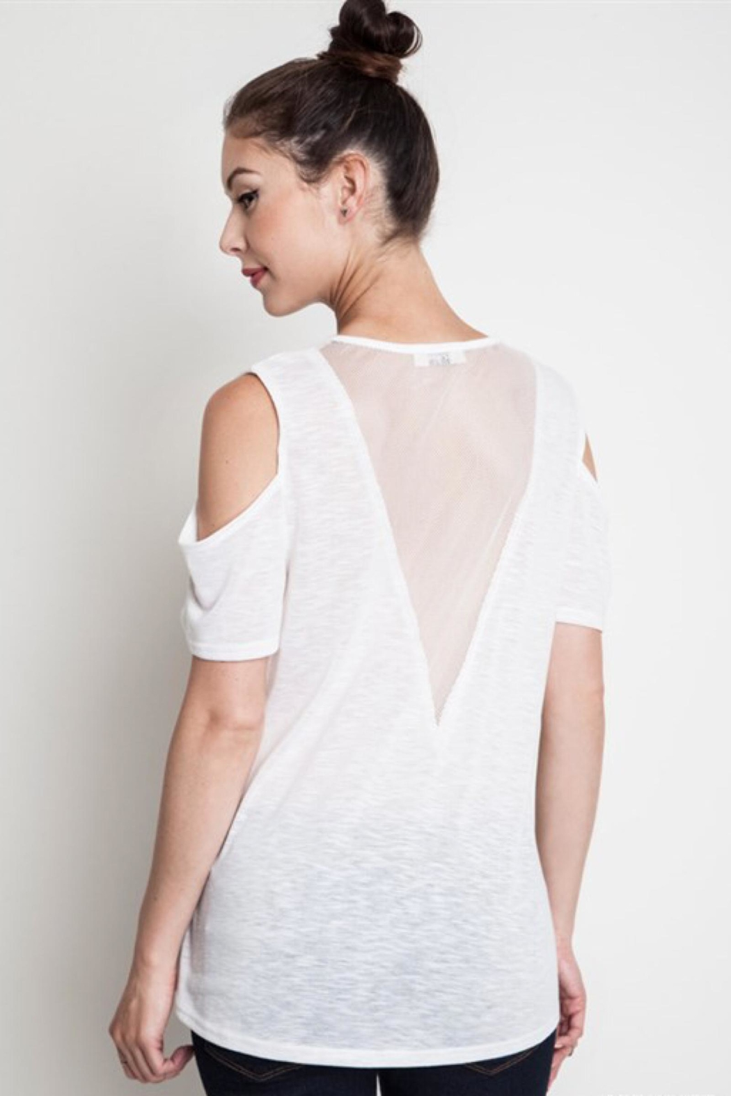 People Outfitter Mesh White Tee - Main Image