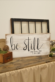 MeshedDesigns Be Still Sign - Front cropped