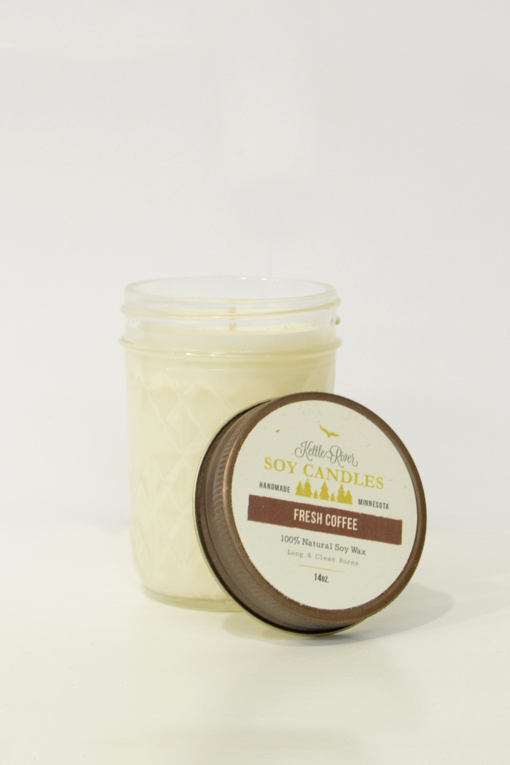 MeshedDesigns Coffee 14oz Candle - Main Image