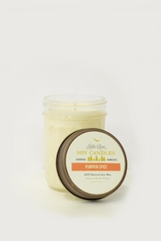 MeshedDesigns Pumpkin-Spice 7oz Candle - Front cropped