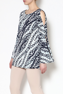 Mesmerize Navy Cold-Shoulder Tunic - Product List Image
