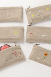 MudPie Message Cosmetic Bags - Front cropped