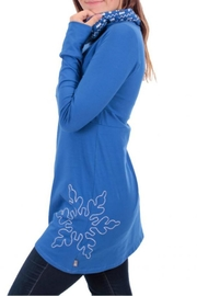Message Factory Blue Snowflake Tunique - Front full body