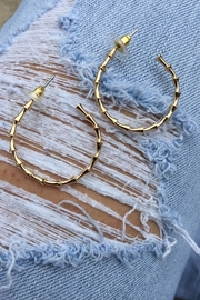 Golden Stella  Metal Bamboo Hoops - Product Mini Image