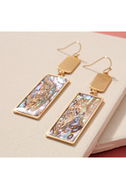 avenue zoe  Metal Bar Shell Dangling Earrings - Product Mini Image