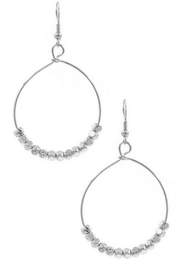 Art Box Metal Bead Hoop Earrings - Product Mini Image