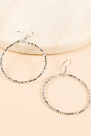 avenue zoe  Metal Bead Round Hoop Earring - Product Mini Image