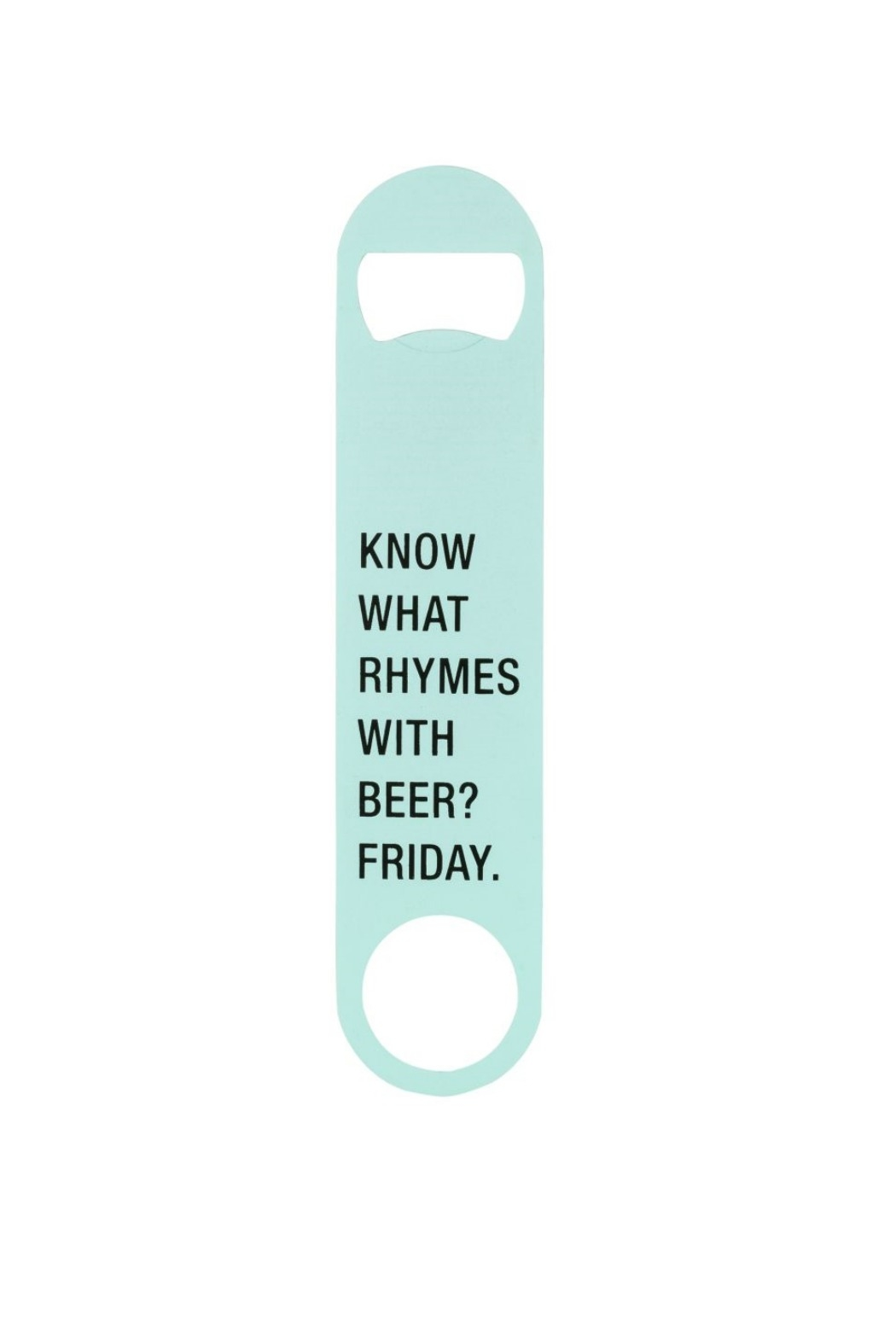 About Face Designs Metal Bottle Opener - Front Cropped Image