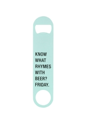 About Face Designs Metal Bottle Opener - Front cropped